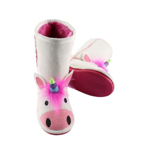 LazyOne Girls Unicorn Toasty Toez Boots